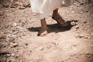 jesus feet walking